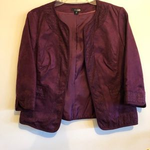 East 5th Open Front Cropped 3/4 sleeve  blazer